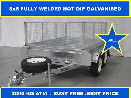 8x5 FULLY HOT DIP GALVANISED TRAILER