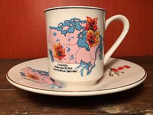 Lord Nelson Commemorative Teacup and Saucer Canada's Centennial