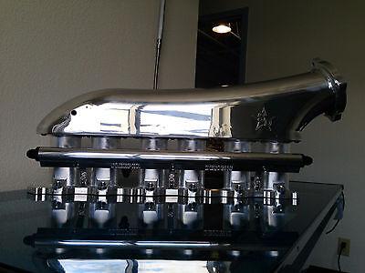Sleeper Designs ALL Billet 2JZGTE Intake Manifold w/Throttle Body and Fuel Rail.