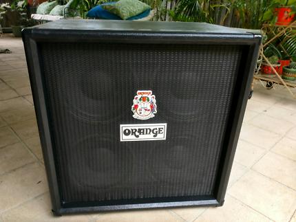 """Orange OBC410 Orange 600W 4x10"""" Bass Guitar Extension Speaker Cab"""