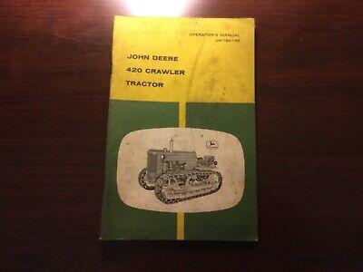 John Deere 420 Crawler Tractor Operators Manual