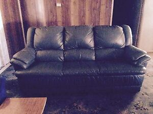 Pure green leather couch Muntadgin Merredin Area Preview