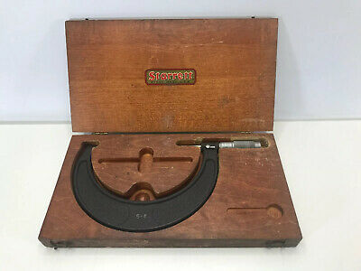 Brown Sharpe Outside Micrometer 5-6 Range With Wooden Case Made In Usa