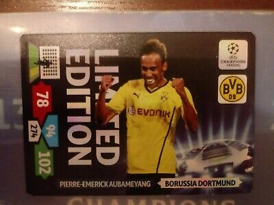 LIMITED EDITION Champions League 2013 2014 ADRENALYN. Aubameyang for sale  Shipping to Nigeria