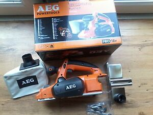 AEG BHO18 18V PLANER,  NEW PRO MODEL DOUBLE SIDE 82MM BLADES not old spiral ones