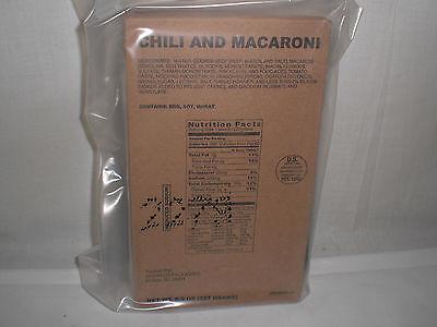 SOPAKCO MRE CHILI & MACARONI Emergency Survival Ration Food 6 Meals Red. Sodium