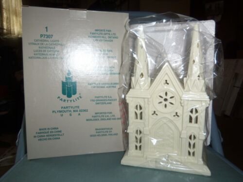 NIB Retired PartyLite Cathedral Church Tea Light Candle Holder