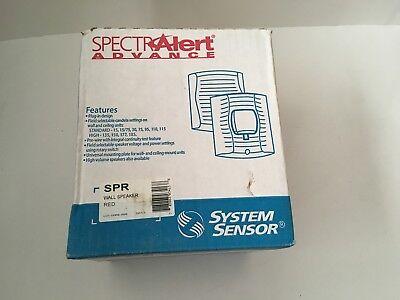 Nib New System Sensor Spr Spectralert Advance Fire Alarm Speaker