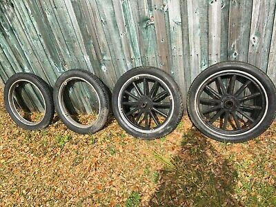 Model T Wood Spoke Wheels Rims Tires 23