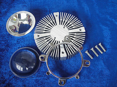 Led Aluminium Heatsink Round Len Reflector Lens 10w Red Yellow Blue Green