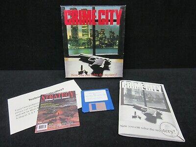 "Vintage - Crime City 1993 Big Box PC Computer Game Crime Detective Myatery 3.5"""