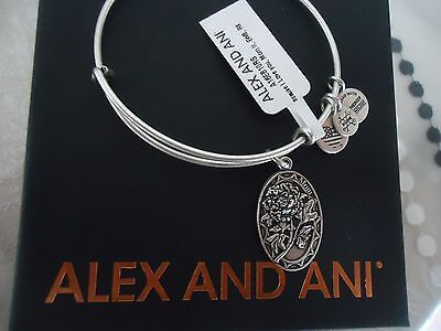 Alex And Ani Because I Love You Mom Ii Russian Silver Bangle New W  Tag Card Box