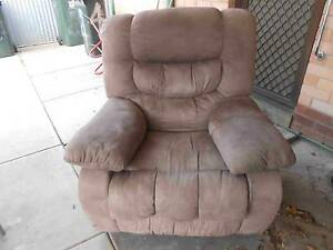 TWO VELVET RECLINERS LIGHT BROWN Rosewater Port Adelaide Area Preview