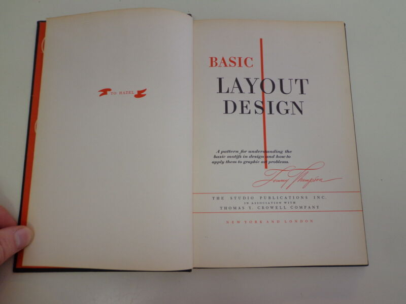 Basic Layout Design 1950 Tommy Thompson Advertising Typography Graphic Arts