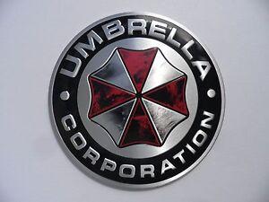 UMBRELLA Corporation Alu 3D Sticker Resident Evil Emblem, Schriftzug Aufkleber