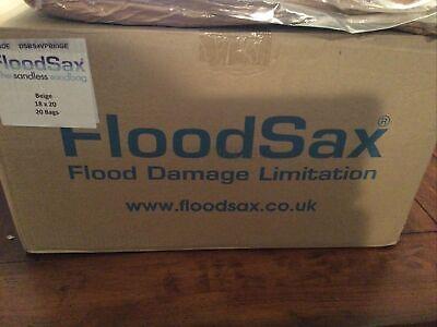 """FloodSax Sandless Sandbag, Water Absorbent Flood Barrier, 18""""x 20"""", Pack of 5"""
