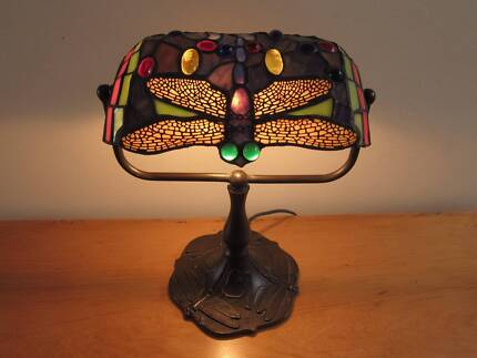 Vintage style Tiffany Leadlight Dragonfly Desk Lamp Drummoyne Canada Bay Area Preview