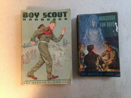 2 BOY SCOUTS of AMERICA Handbooks 1950 and 1963 - PRE OWNED