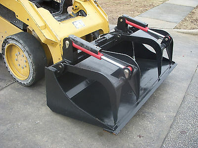 Kubota Skid Steer Attachment 72 Heavy Duty Bucket Grapple - Ship 199