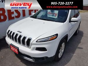 2016 Jeep Cherokee Limited 4X4, SUNROOF, NAVIGATION