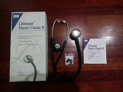 Adc Stethoscope In A 3m Littmann Master Classic Ii Black Edition Box