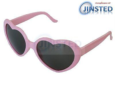 Rosa Herzen Sonnenbrillen (Pink Lolita Herzform Sonnenbrille Mädchen Damen Teenager S Erwachsene TH001)