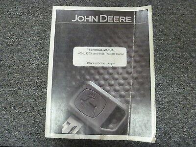 John Deere 4055 4255 4455 Row Crop Tractor Shop Service Repair Manual Tm1458