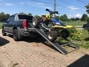 Easy load tilt and load sled and atv ramp