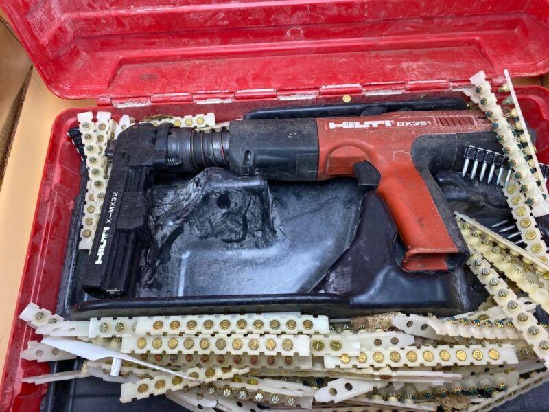 Hilti DX351 With Magazine Powder Actuated Tool Nail Gun Fastener