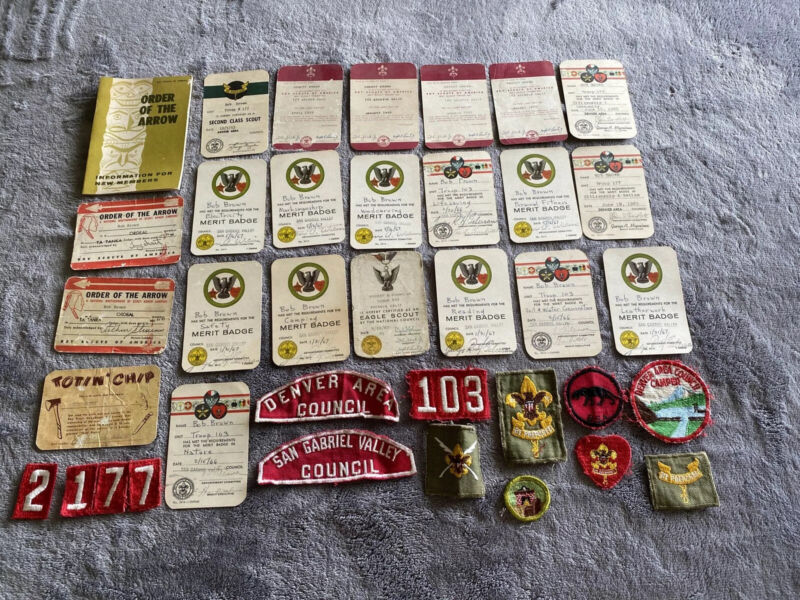 Vintage 1960s BSA Boy Scouts Merit Badges Patches Order Of Arrow Lot Rare!