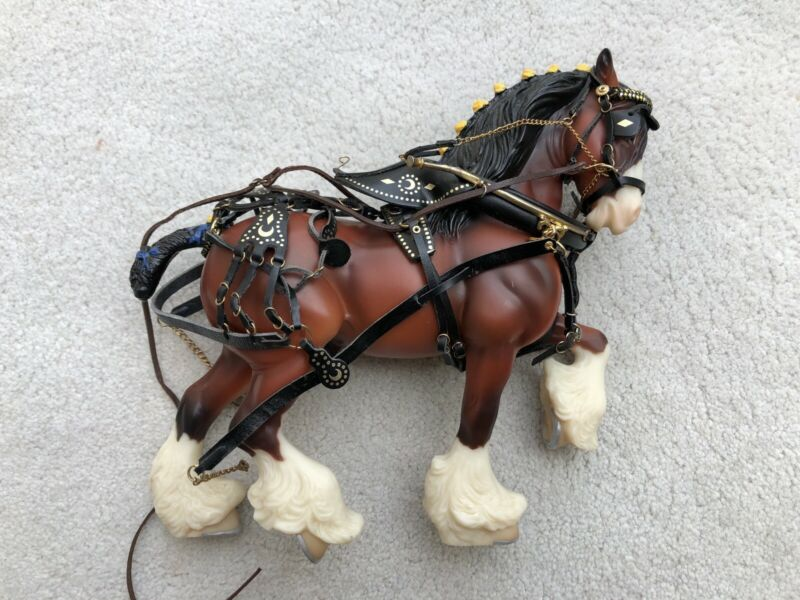 Rare Breyer Horse Classic Accessory #2405 Delivery Wagon Team Harness Tack Set 2