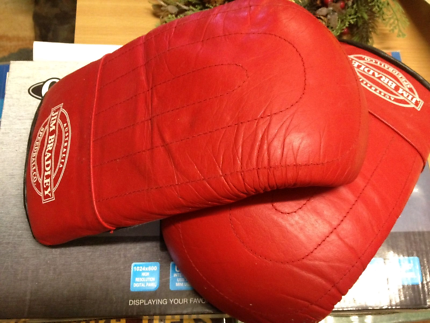 Red boxing/training gloves