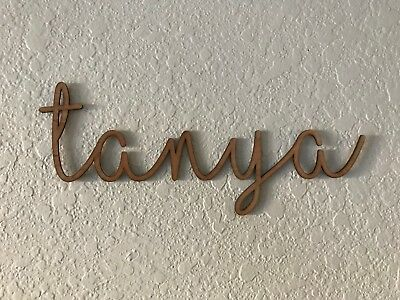 Bespoke Wooden Name Plaque Words Letter Wall Door Art Nursery Sign Personalised