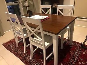 Dining table and 4 chairs - fantastic furniture purchase Norwood Norwood Area Preview