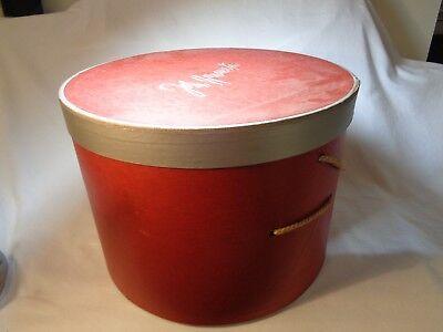 Vintage John Wanamaker Red Hat Box