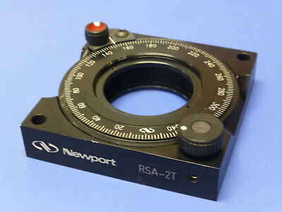 Newport Rsa-2t Rotation Stage Rotary Mount For 2 Optics