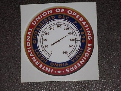 International Union of Operating Engineers UNION LABOR STICKER Decal HARD HAT