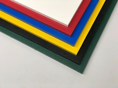 """(Color Coded Plastic (HDPE) Cutting Board 1/2"""" - .500"""" Thick You Pick The Size)"""