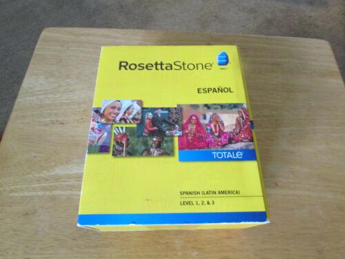 Rosetta Stone Spanish (Lat Am) v4 Totale Lvl 1-3 by Rosetta Stone Staff NEW