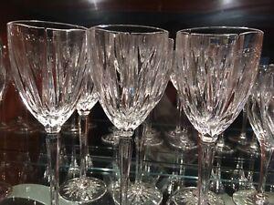 Crystal wine goblets