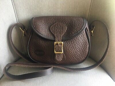 New J. W. HULME CO. Brown Pebbled Leather Saddle Crossbody Handbag Detach Strap for sale  Shipping to Canada