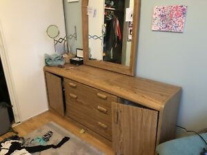 Solid dresser with mirror