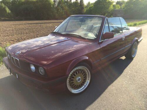 BMW E30 318i Cabrio Calypsorot Leder Lenso 17