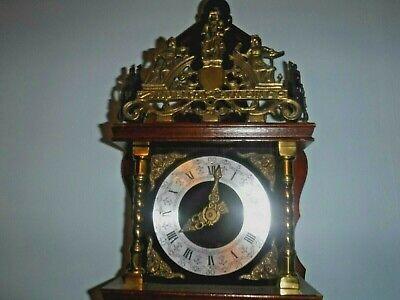 Dutch Wall Clock  weight driven 8 day  GWO Sunburst brass pendulum
