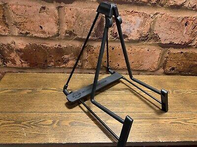 K&M 17580 Acoustic Guitar Stand Black Adjustable Folding A Frame German Made