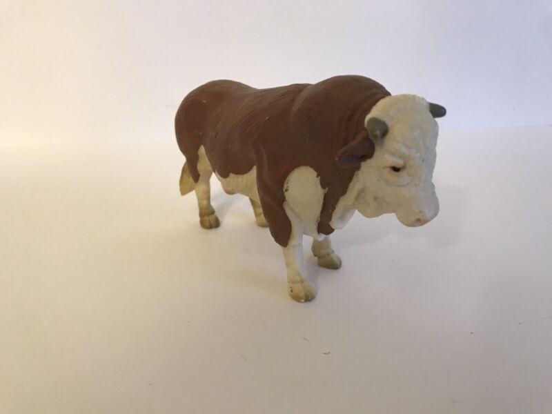 Schleich FLECKVIEH BULL Cow Dairy Farm figure Brown & White 1995 Retired