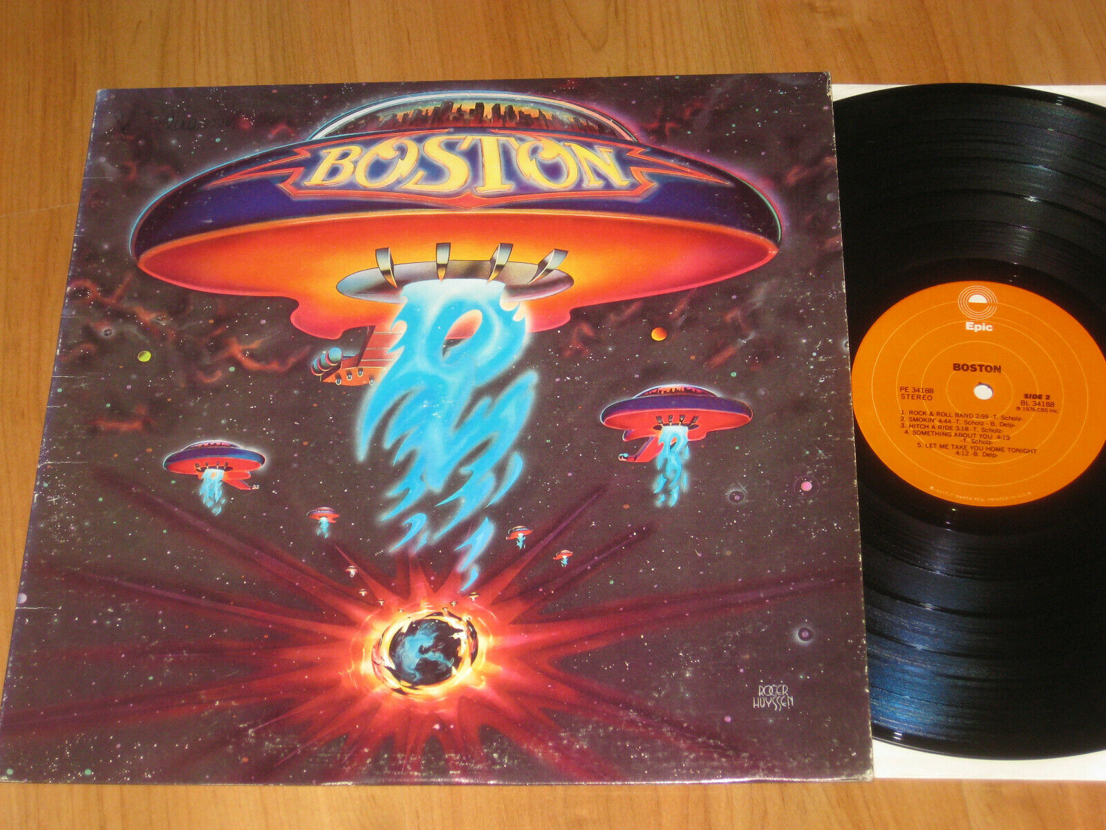 Boston - Same LP 1976 USA / Original / mit More than a feeling
