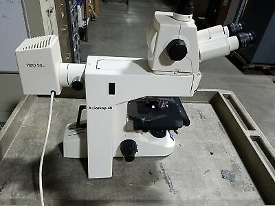 Zeiss Axioskop 40 Trinocular Microscope Loaded W Objectives Axiocam Mrc Camera