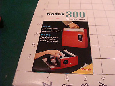vintage paper: KODAK 300 projectors 1957 brochure - i show the entire item
