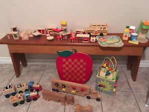 Wooden toys- great for Christmas gifts 50$